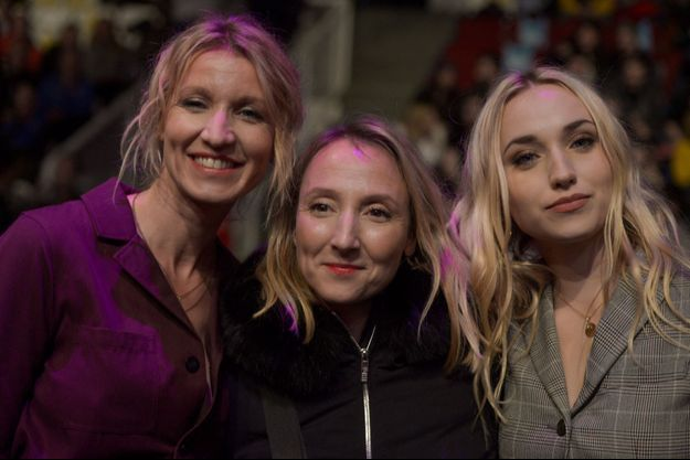 Alexandra Lamy, Audrey Lamy et Chloé Jouannet (fille d'Alexandra Lamy) en janvier 2019.