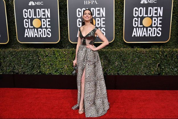 Anne Hathaway lors de la cérémonie des Golden Globes, le 6 janvier dernier.