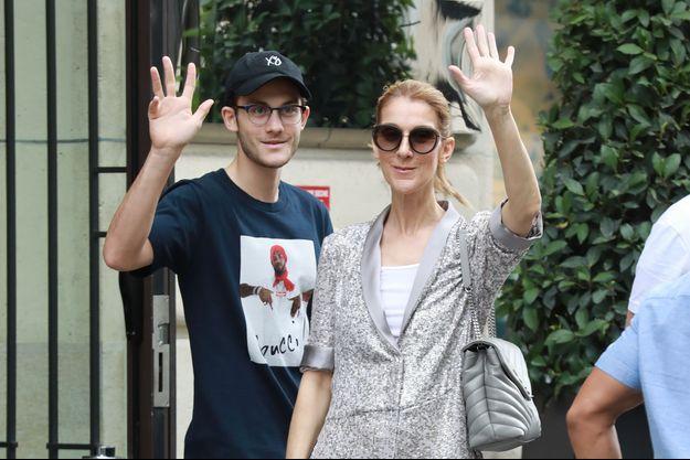 Céline Dion et son fils René-Charles à Paris le 19 juillet 2017