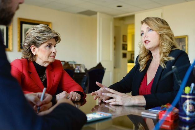 Louisette Geiss et son avocate Gloria Allred nous racontent... Photo prise le 14 octobre à Los Angeles.