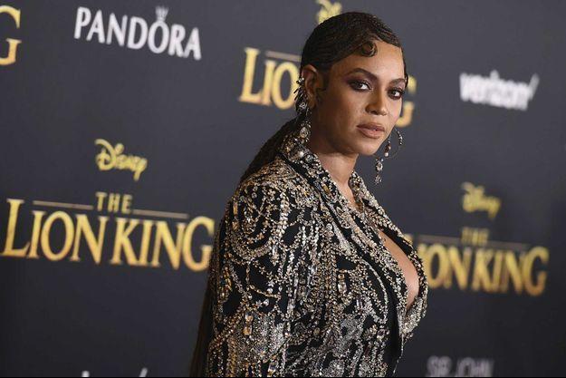 """Beyoncé lors d'une avant-première du """"Roi Lion"""", en 2019."""
