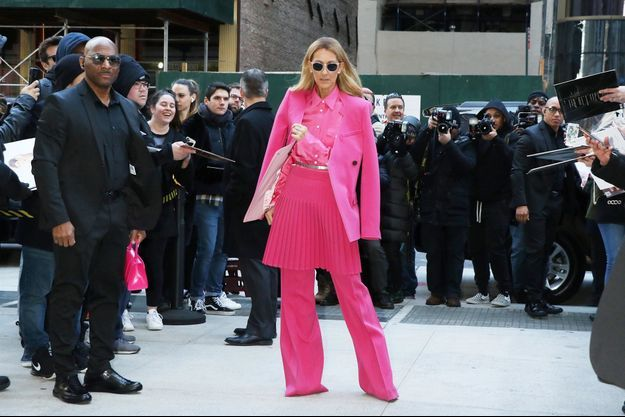 Céline Dion à New York le 7 mars 2020