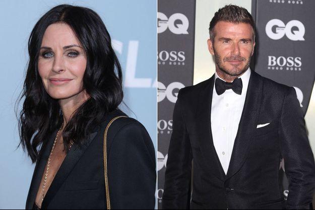 Courteney Cox et David Beckham