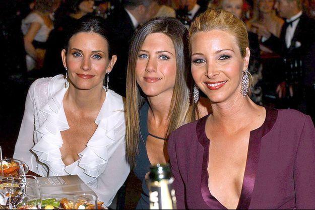 Courteney Cox, Jennifer Aniston et Lisa Kudrow en 2003