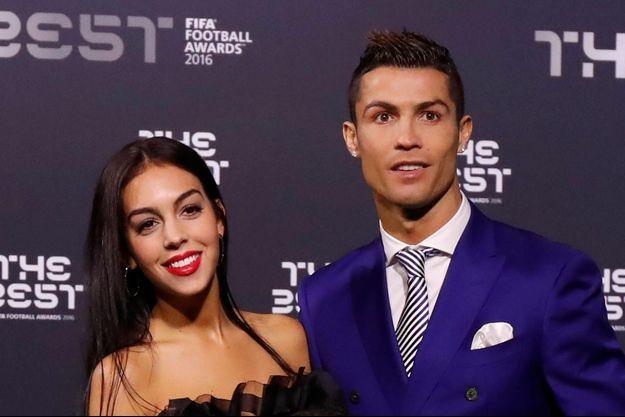 Cristiano Ronaldo et Georgina Rodriguez, le 9 janvier 2017 à Zurich.