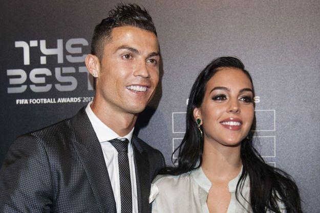 Cristiano Ronaldo et Georgina Rodriguez le 23 octobre 2017 à Londres.