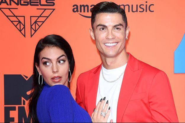 Cristiano Ronaldo avec sa compagne Georgina Rodriguez