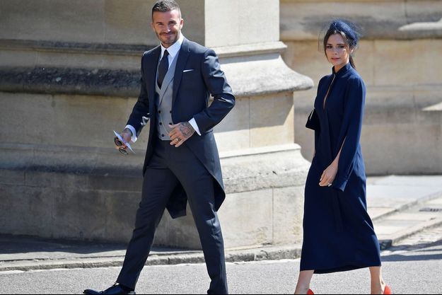 David et Victoria Beckham au mariage du prince Harry et de Meghan Markle, le 19 mai.