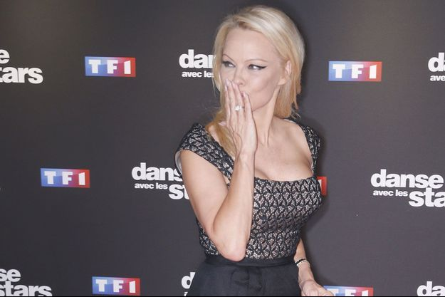 """Pamela Anderson lors de la présentation presse de la nouvelle saison de """"Danse avec les stars""""."""