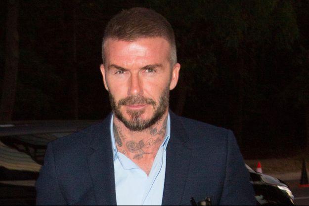 David Beckham à Paris, le 1er octobre 2018