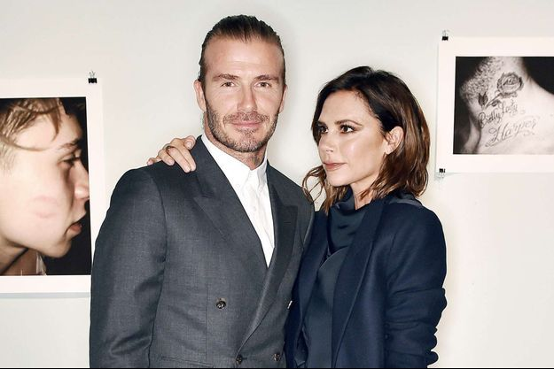 Le couple Beckham à Londres, le 27 juin 2017.