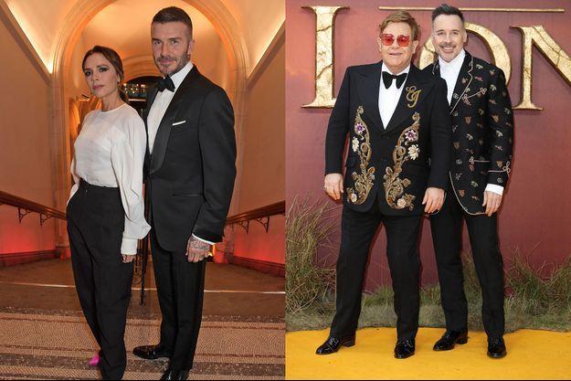 David et Victoria Beckham / Elton John et David Furnish