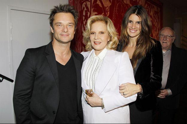 David Hallyday, Sylvie Vartan et Alexandra Pastor à Paris, le 23 novembre 2011
