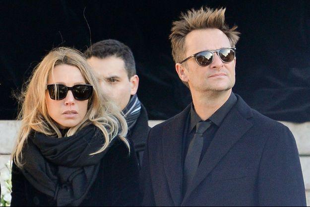 David Hallyday et sa soeur Laura à la Madeleine le 9 décembre 2017.