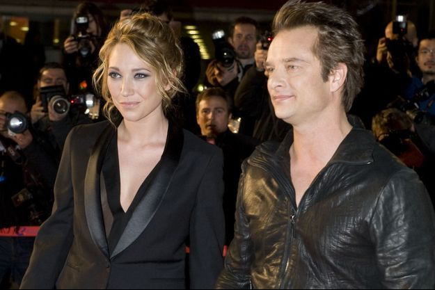 Laura et David Hallyday à Cannes en 2010.