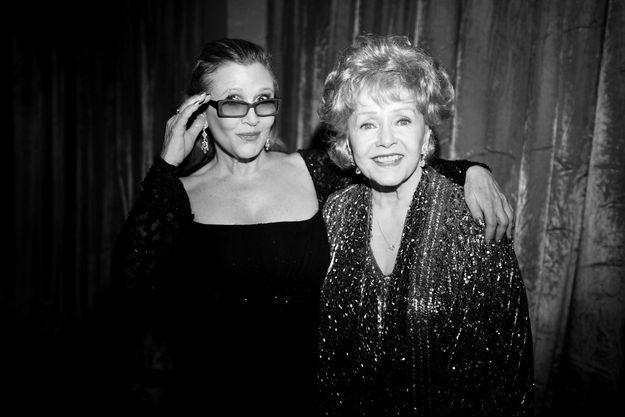 Carrie Fisher et Debbie Reynolds en 2015