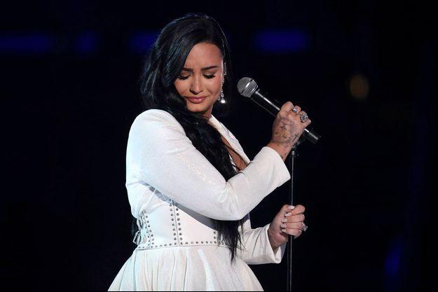 Demi Lovato lors de sa performance aux Grammy Awards le 26 janvier 2020 à Los Angeles.