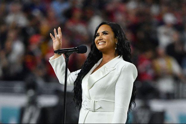 Demi Lovato performant au Super Bowl à Miami en février 2020.