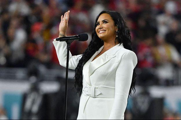 Demi Lovato au Super Bowl à Miami en février 2020.