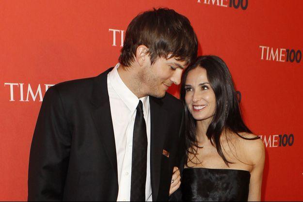 Ashton Kutcher et Demi Moore en 2010 à New York