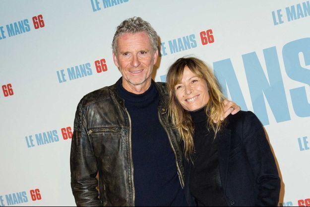 Denis Brogniart avec son épouse Hortense en octobre 2019.