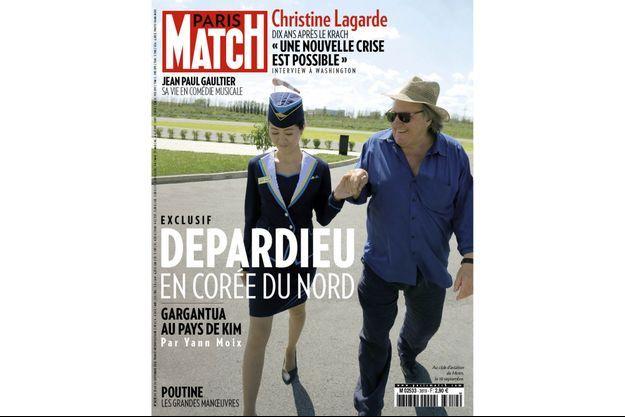 Gérard Depardieu au club d'aviation de Mirim, le 10 septembre.
