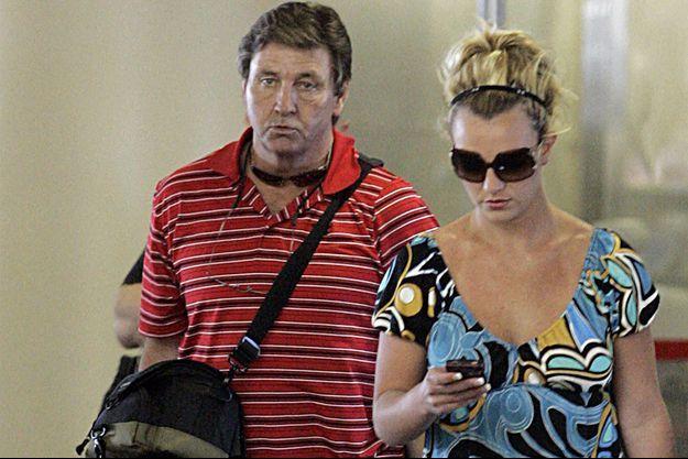 Britney Spears et son père Jamie en 2008.