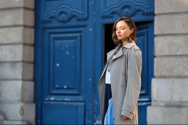 Miranda Kerr à Paris, début octobre.