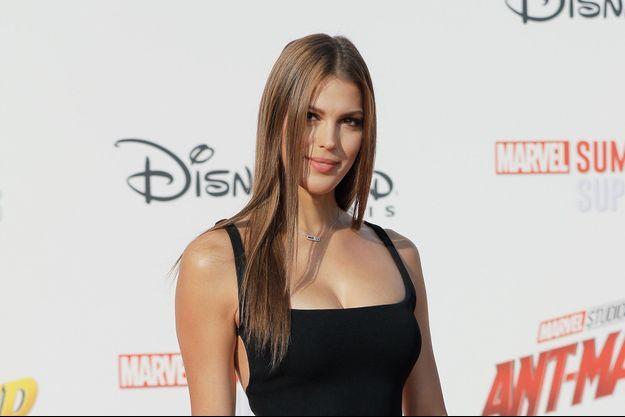 """Iris Mittenaere à l'avant-première du film """"Ant-man et la guêpe"""" à Disneyland Paris, le 14 juillet 2018"""