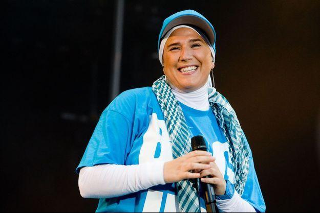 Diam's lors d'un concert en 2010.