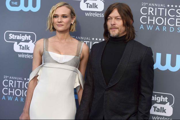 Diane Kruger et Norman Reedus en janvier 2018