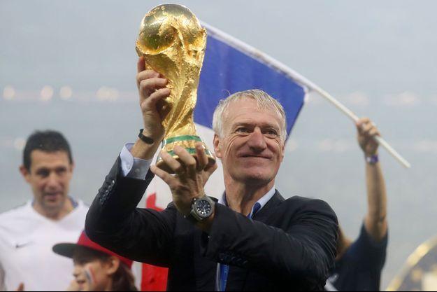 Didier Deschamps après la victoire des Bleus à la Coupe du monde.