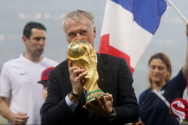Didier Deschamps le 15 juillet 2018 après la finale de la coupe du monde