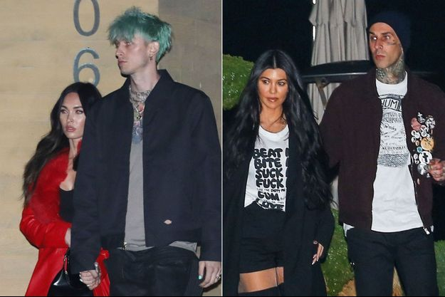 Megan Fox, Machine Gun Kelly, Kourtney Kardashian et Travis Barker
