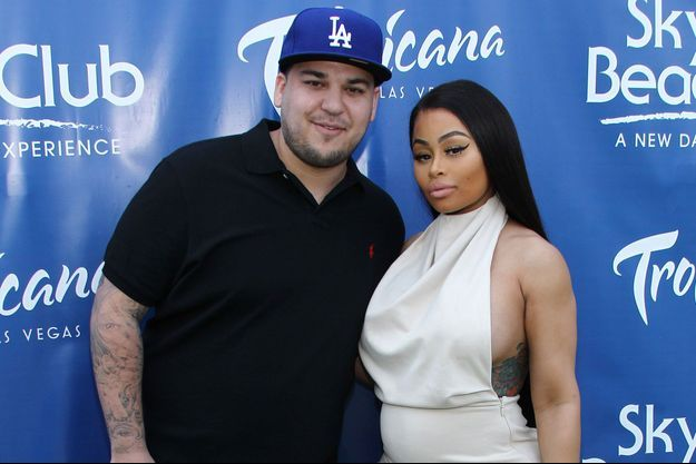 Robert Kardashian et Blac Chyna à Las Vegas le 28 mai dernier.