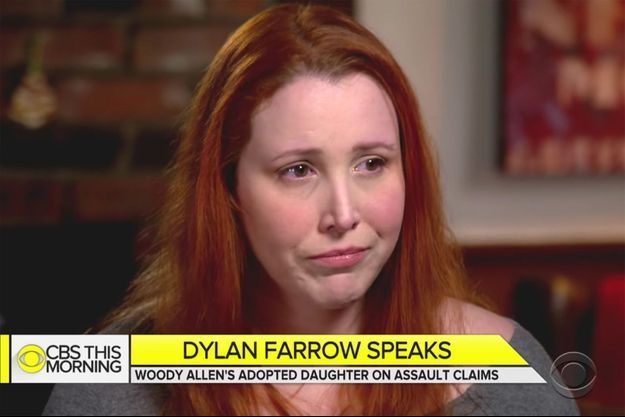 "Dylan Farrow dans l'émission ""CBS This Morning"""