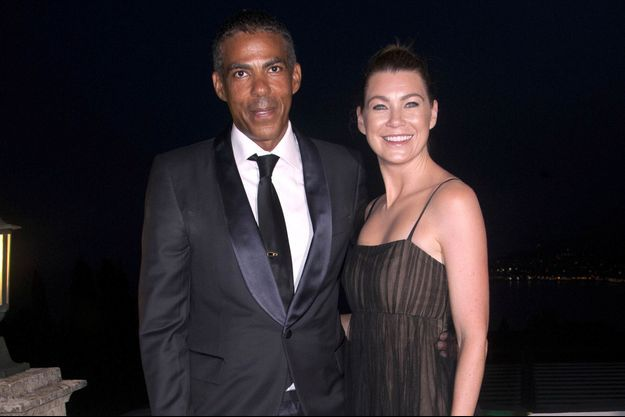 Chris Ivory et Ellen Pompeo en Italie en 2015.