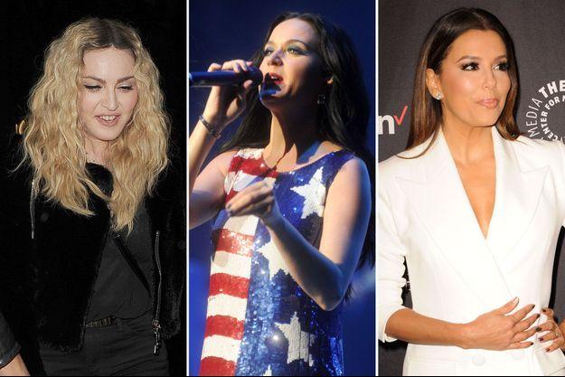 Madonna, Katy Perry, Eva Longoria ont soutenu la candidate démocrate Hillary Clinton