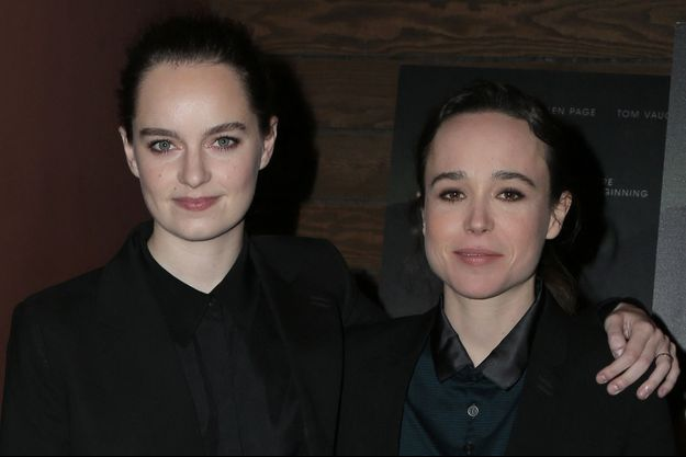 Emma Portner et Elliot Page en février 2018