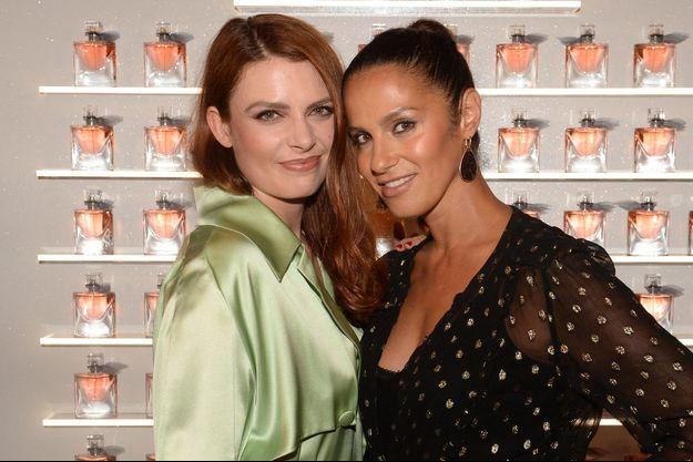 Élodie Frégé et Elisa Tovati lors d'un événement à Paris en 2018
