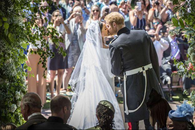 Meghan et Harry le jour de leur mariage, le 19 mai 2018.