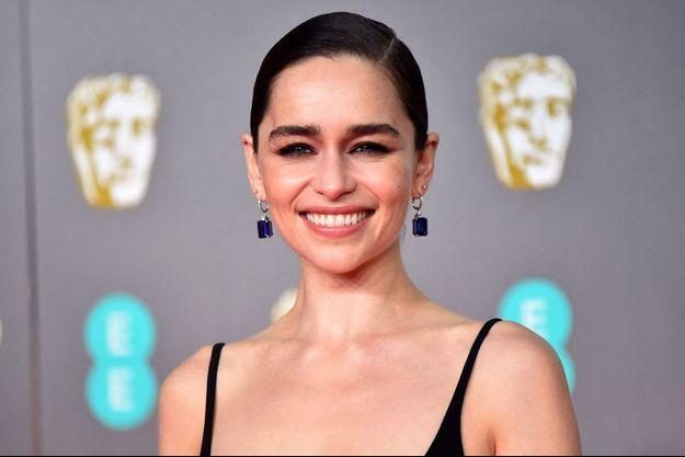 Emilia Clarke à Edimbourg en février 2020.