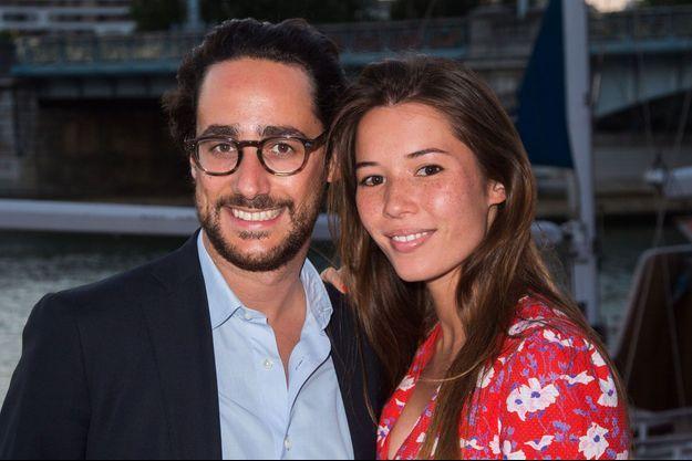 Thomas Hollande et son épouse Emilie Broussouloux.
