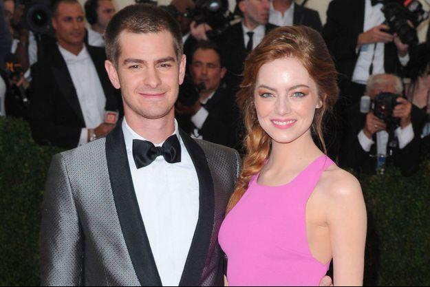 Emma Stone et Andrew Garfield au Met Ball à New York, le 5 mai 2014
