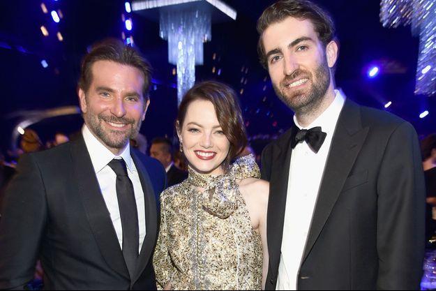 Bradley Cooper, Emma Stone et Dave McCary aux SAG Awards.