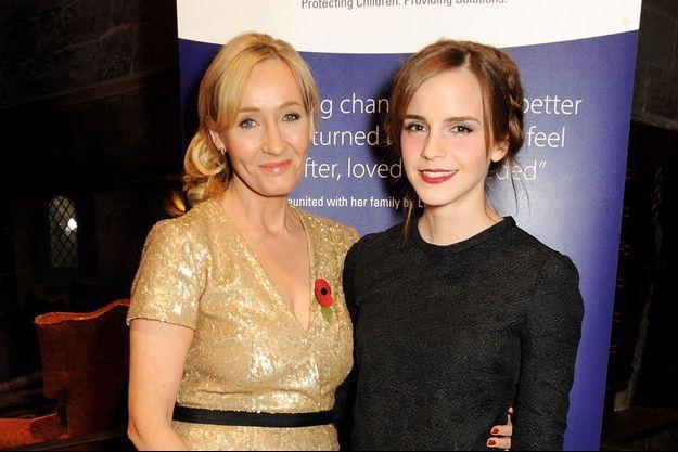 J.K Rowling et Emma Watson en 2013