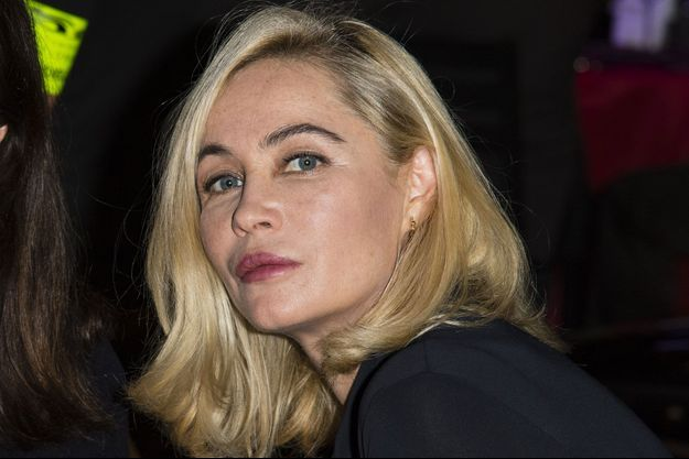 Emmanuelle Béart à Paris le 30 janvier 2018.