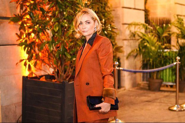 Emmanuelle Béart à Paris en avril 2019