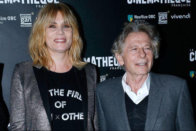 Emmanuelle Seigner et Roman Polanski en 2017