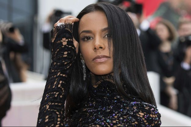 Shy'm en mai 2018 au Festival de Cannes.